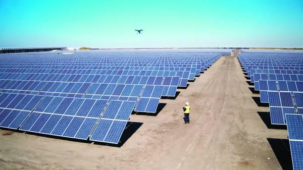 montage de panneau solaire
